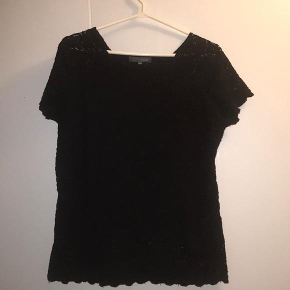 Black Lace Addition Elle top